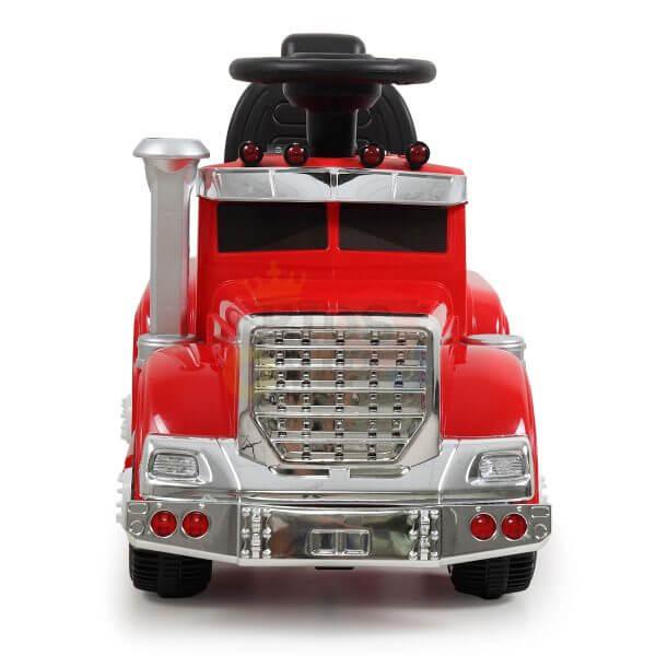 kids vip ride on push truck handle red 8