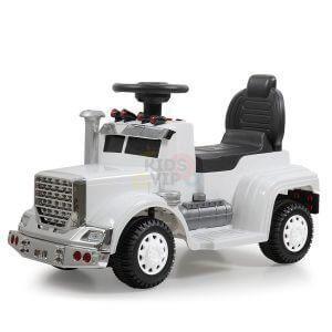 kids vip ride on push truck handle white 10