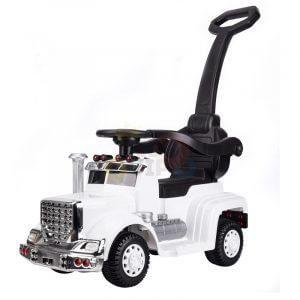kids vip ride on push truck handle white 3