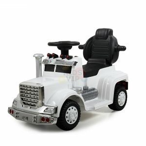 kids vip ride on push truck handle white 4