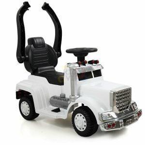 kids vip ride on push truck handle white 5
