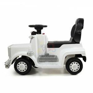 kids vip ride on push truck handle white 6