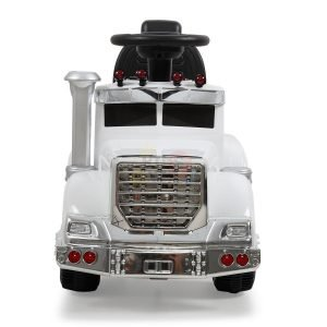 kids vip ride on push truck handle white 7