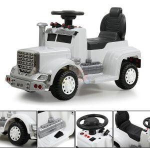 kids vip ride on push truck handle white 8
