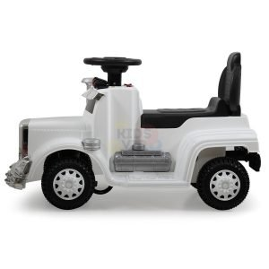 kids vip ride on push truck handle white 9