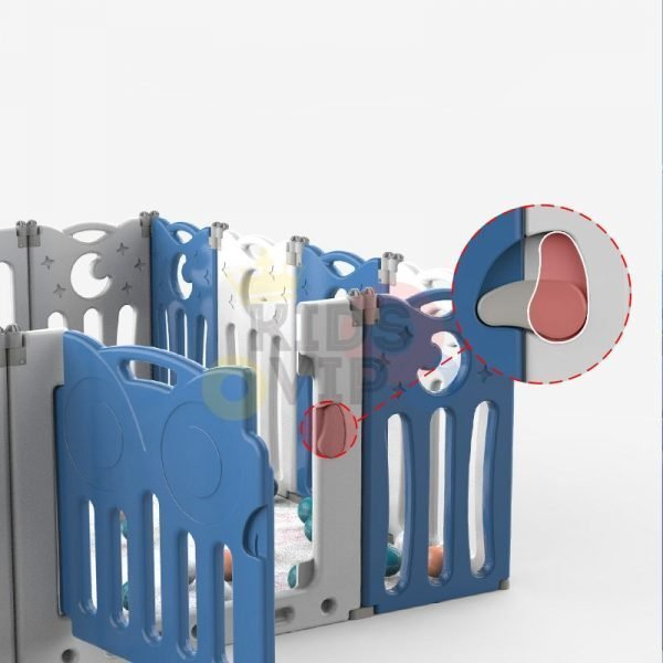 kidsvip folding fence 16 panels kids toddlers blue 3