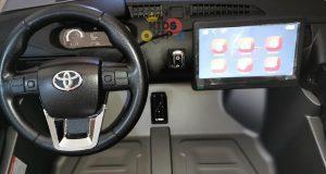 kidsvip toyota hilux 24v ride on 2 seater truck rubber wheels 1
