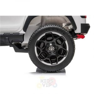 kidsvip toyota hilux 24v ride on 2 seater truck rubber wheels BLACK 1