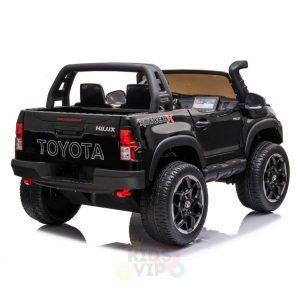 kidsvip toyota hilux 24v ride on 2 seater truck rubber wheels BLACK 10
