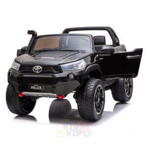 kidsvip toyota hilux 24v ride on 2 seater truck rubber wheels BLACK 12