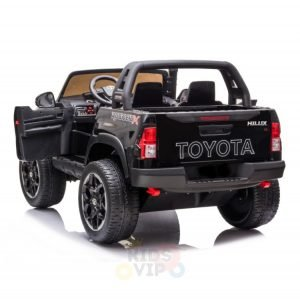 kidsvip toyota hilux 24v ride on 2 seater truck rubber wheels BLACK 13