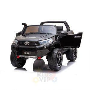 kidsvip toyota hilux 24v ride on 2 seater truck rubber wheels BLACK 14