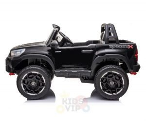 kidsvip toyota hilux 24v ride on 2 seater truck rubber wheels BLACK 15
