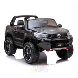 kidsvip toyota hilux 24v ride on 2 seater truck rubber wheels BLACK 16