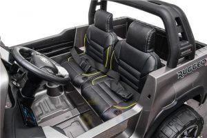 kidsvip toyota hilux 24v ride on 2 seater truck rubber wheels BLACK 2