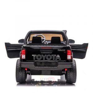 kidsvip toyota hilux 24v ride on 2 seater truck rubber wheels BLACK 3