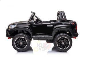 kidsvip toyota hilux 24v ride on 2 seater truck rubber wheels BLACK 5