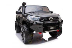 kidsvip toyota hilux 24v ride on 2 seater truck rubber wheels BLACK 6