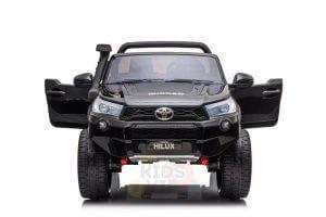 kidsvip toyota hilux 24v ride on 2 seater truck rubber wheels BLACK 7