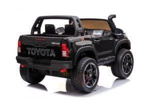 kidsvip toyota hilux 24v ride on 2 seater truck rubber wheels BLACK 8