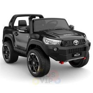 kidsvip toyota hilux 24v ride on 2 seater truck rubber wheels BLACK 9