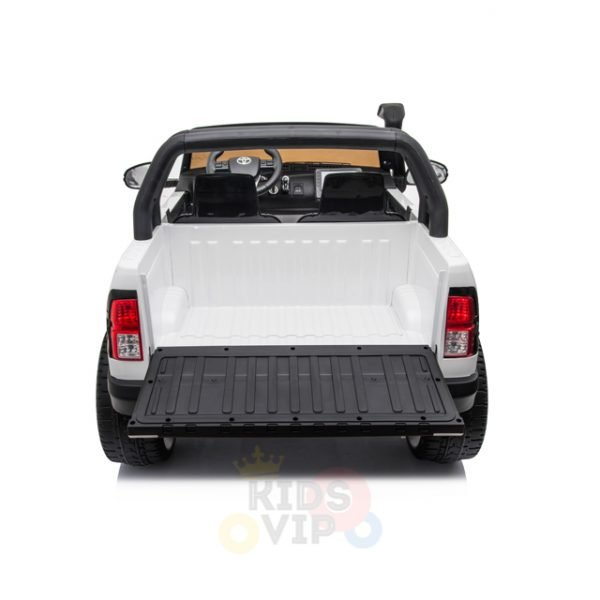 kidsvip toyota hilux 24v ride on 2 seater truck rubber wheels WHITE 10
