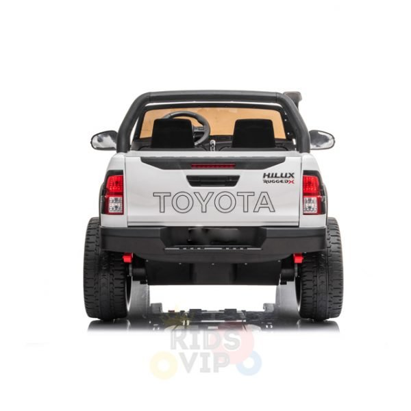 kidsvip toyota hilux 24v ride on 2 seater truck rubber wheels WHITE 11