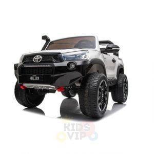 kidsvip toyota hilux 24v ride on 2 seater truck rubber wheels WHITE 12