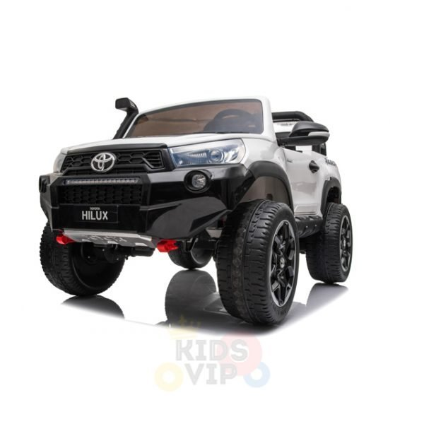 kidsvip toyota hilux 24v ride on 2 seater truck rubber wheels WHITE 12