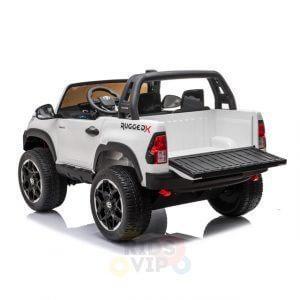 kidsvip toyota hilux 24v ride on 2 seater truck rubber wheels WHITE 14