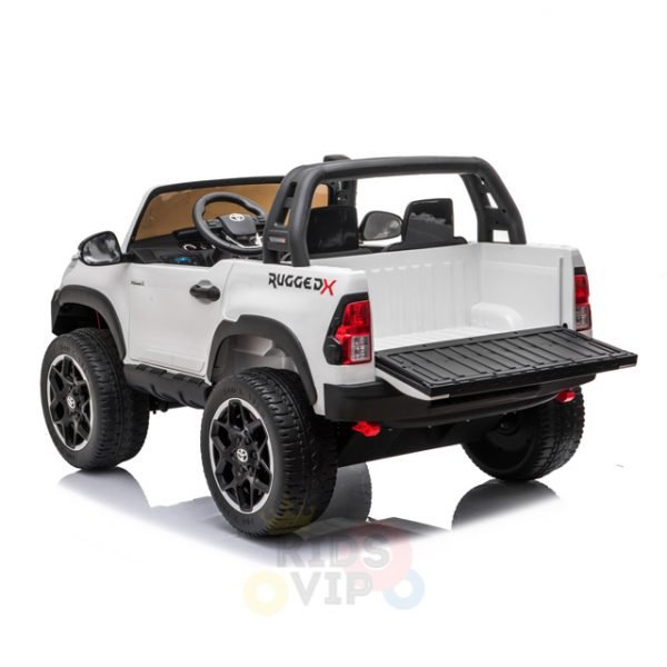 kidsvip toyota hilux 24v ride on 2 seater truck rubber wheels WHITE 14