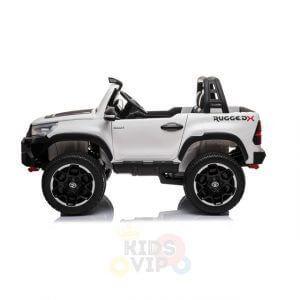 kidsvip toyota hilux 24v ride on 2 seater truck rubber wheels WHITE 15