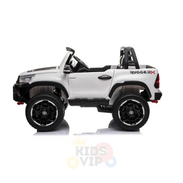 kidsvip toyota hilux 24v ride on 2 seater truck rubber wheels WHITE 15