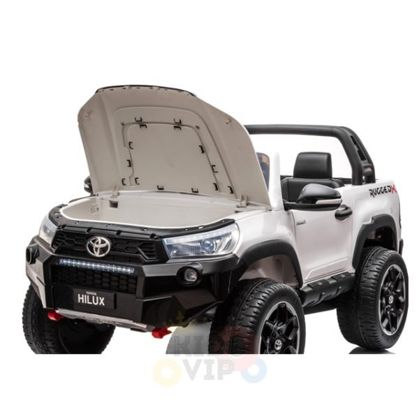 kidsvip toyota hilux 24v ride on 2 seater truck rubber wheels WHITE 18