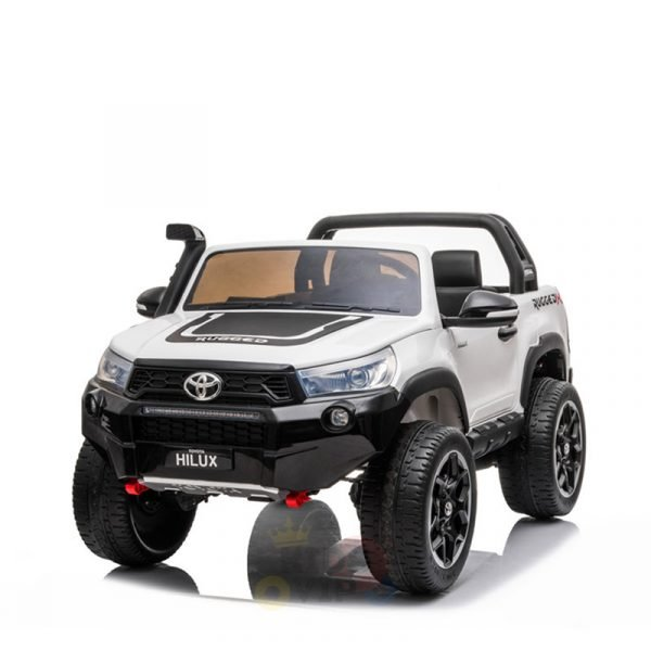 kidsvip toyota hilux 24v ride on 2 seater truck rubber wheels WHITE 19