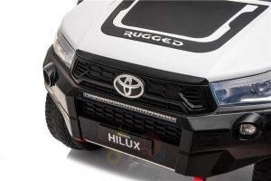 kidsvip toyota hilux 24v ride on 2 seater truck rubber wheels WHITE 4