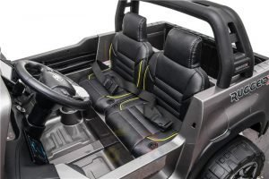 kidsvip toyota hilux 24v ride on 2 seater truck rubber wheels WHITE 5