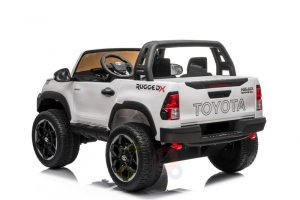 kidsvip toyota hilux 24v ride on 2 seater truck rubber wheels WHITE 6