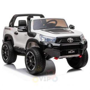 kidsvip toyota hilux 24v ride on 2 seater truck rubber wheels WHITE 7