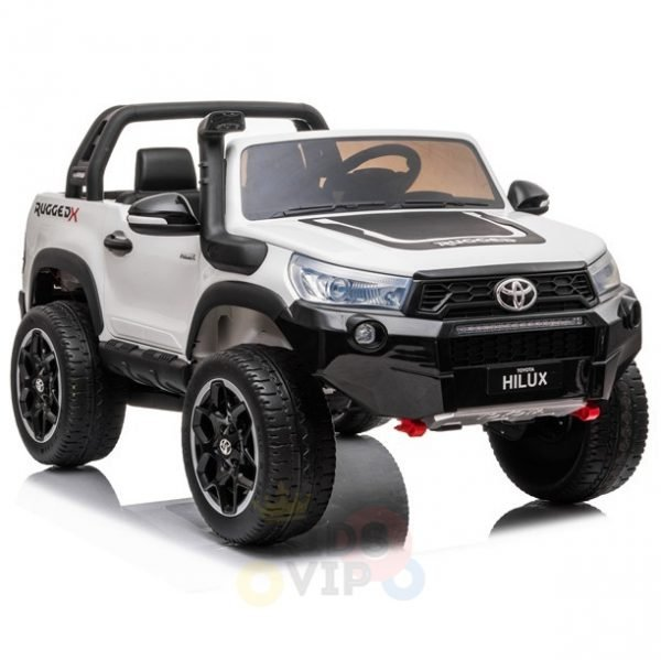 kidsvip toyota hilux 24v ride on 2 seater truck rubber wheels WHITE 7