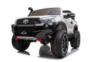 kidsvip toyota hilux 24v ride on 2 seater truck rubber wheels WHITE 8