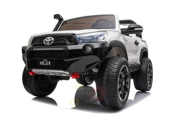 kidsvip toyota hilux 24v ride on 2 seater truck rubber wheels WHITE 8