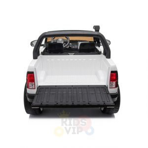 kidsvip toyota hilux 24v ride on 2 seater truck rubber wheels WHITE 9