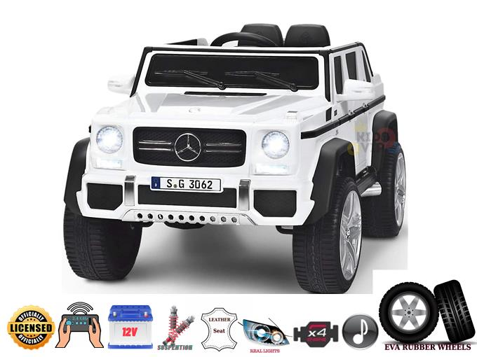 Luxury 4WD Mercedes Maybach G650s 12V Kids and Toddlers Ride On Car, Truck