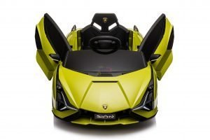 lamborghin 4wd 4x4 kids and toddlers ride on sport sian car 12v leather ruber kidsvip green 11
