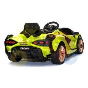 lamborghin 4wd 4x4 kids and toddlers ride on sport sian car 12v leather ruber kidsvip green 20