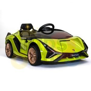 lamborghin 4wd 4x4 kids and toddlers ride on sport sian car 12v leather ruber kidsvip green 22