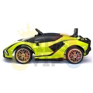 lamborghin 4wd 4x4 kids and toddlers ride on sport sian car 12v leather ruber kidsvip green 23