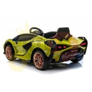 lamborghin 4wd 4x4 kids and toddlers ride on sport sian car 12v leather ruber kidsvip green 26