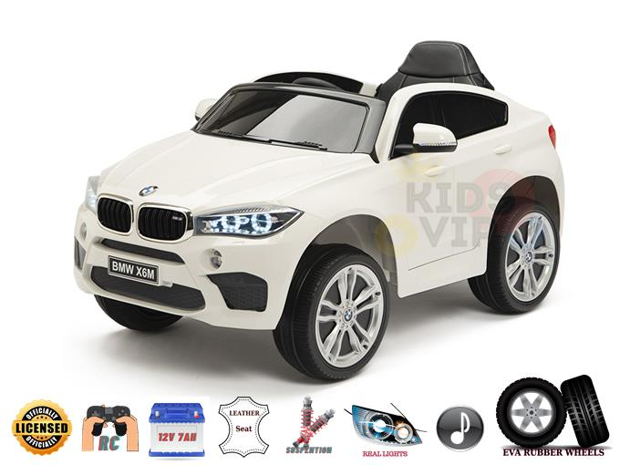 BMW X6M Sport Edition 12V Ride on Car with Remote Control, Rubber Wheels, Leather Seat